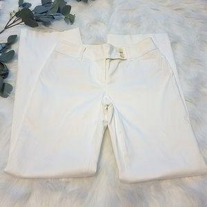 ANN TAYLOR Signature White Petite 00P Pants